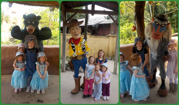 Adventureland Characters at Disneyland Paris