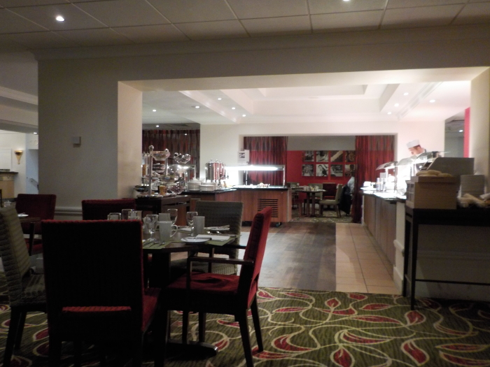 The breakfast room at Hilton Leicester