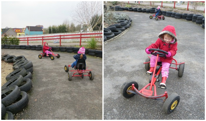 Mini go karts at Twinlakes Park