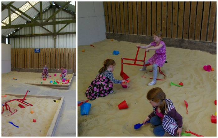 Indoor sand pit at Playdale Farm Park