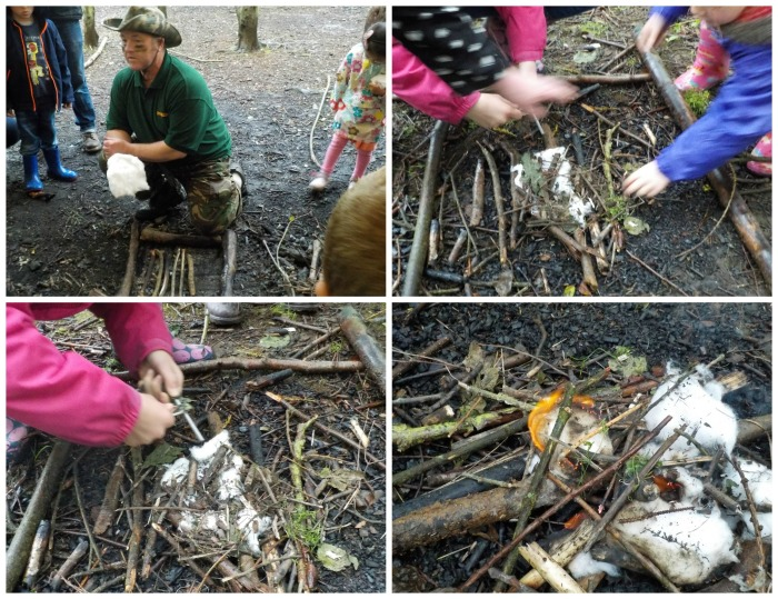 Fire building at Conkers