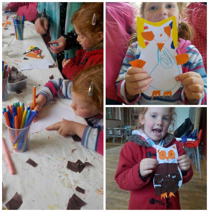 Owl crafts at Conkers