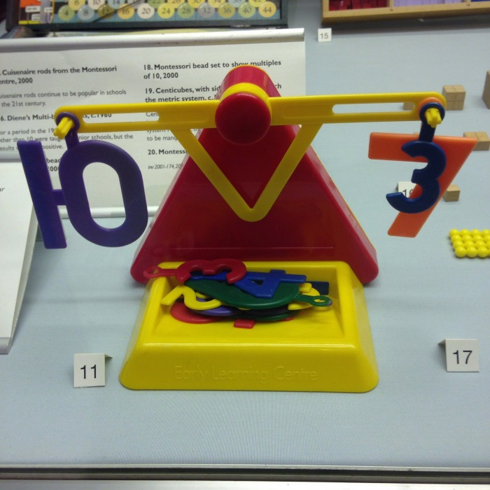 Old Early Learning Centre number balance at The Science Museum