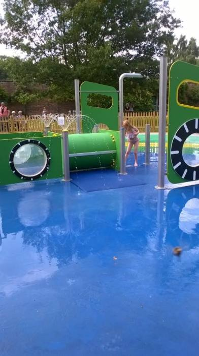 Splash play area at Normanby Hall