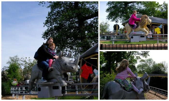 The Rockin' Rhino ride at Longleat Safari Park