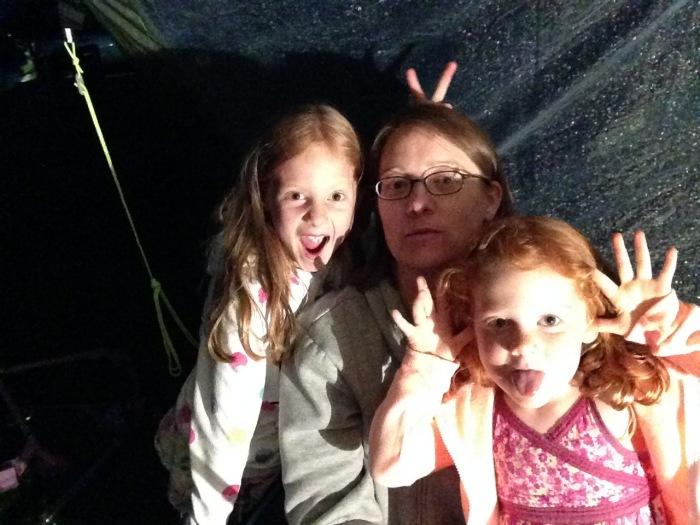 Selfie fun at Dunstan Hill campsite