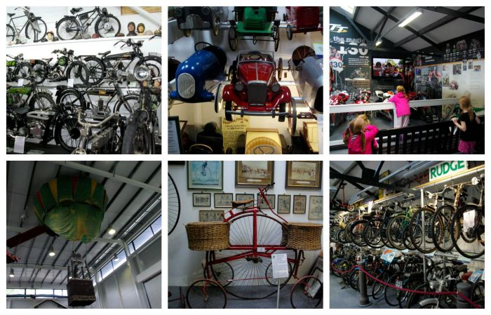 Bicycles, toy cars, and motorbikes at Lakeland Motor Museum