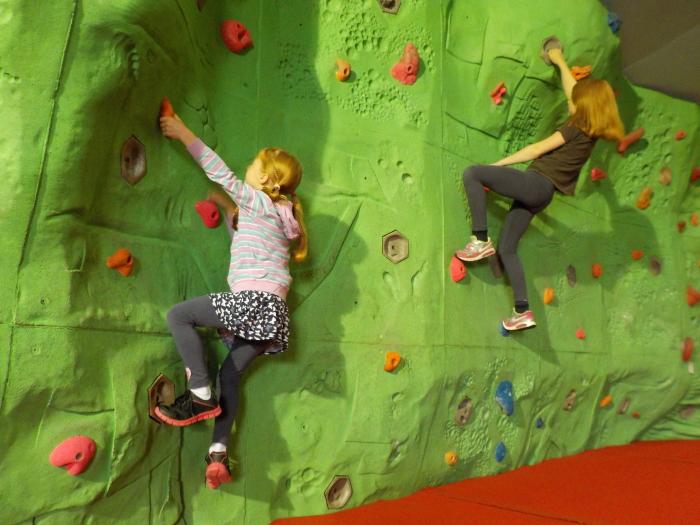 Bouldering at Keswick Climbing Wall