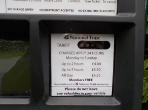Aira Force car park charges