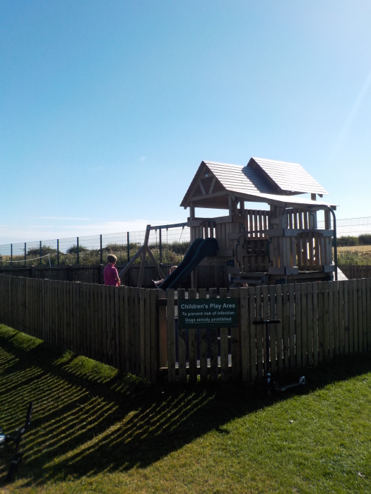 The play park at Dunstan Hill campsite