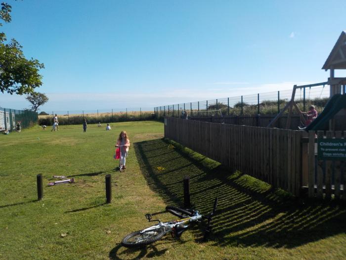 The ball games area at Dunstan Hill campsite