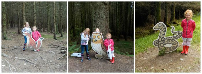 Doing the Gruffalo trail at Whinlatter Forest