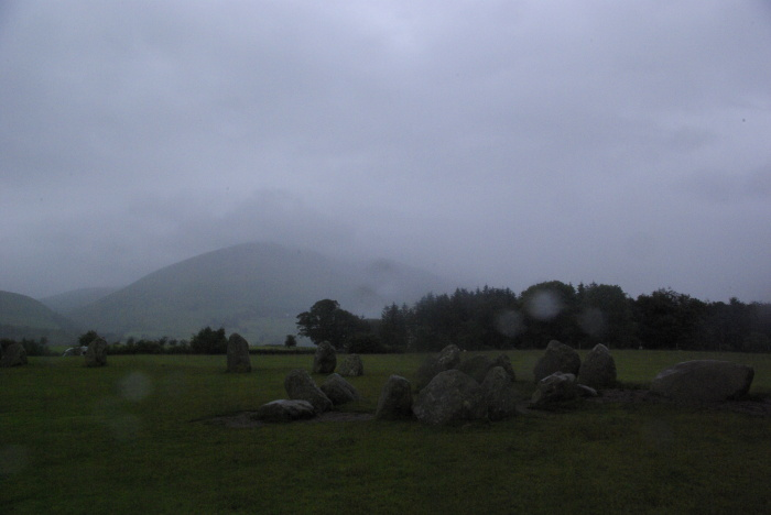 Castlerigg Stone Circle in the rain