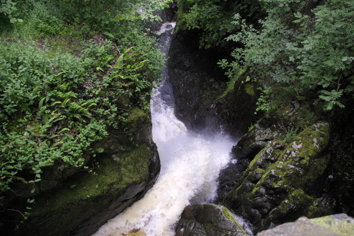 Aira Force from the overhead bridge