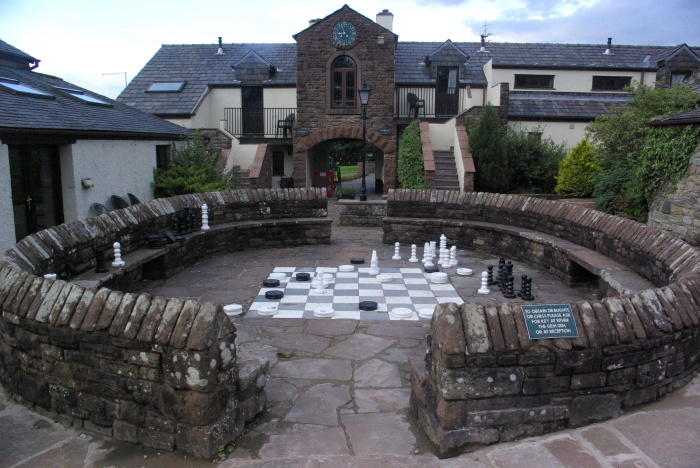 Giant chess board at Whitbarrow Village
