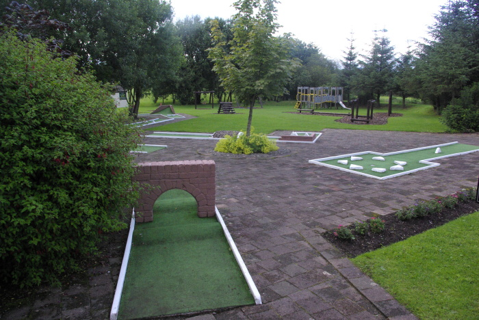 Crazy golf at Whitbarrow Village