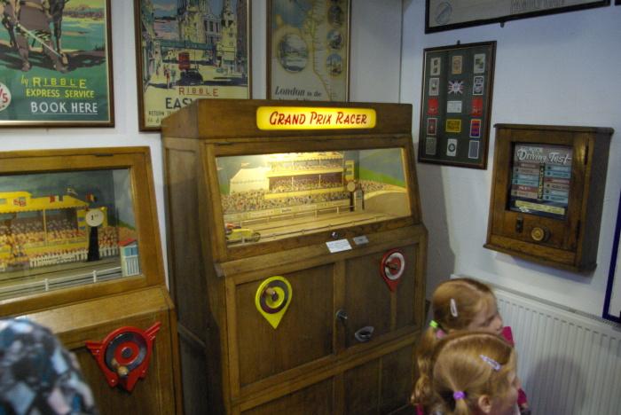 The arcade machines at Lakeland Motor Museum