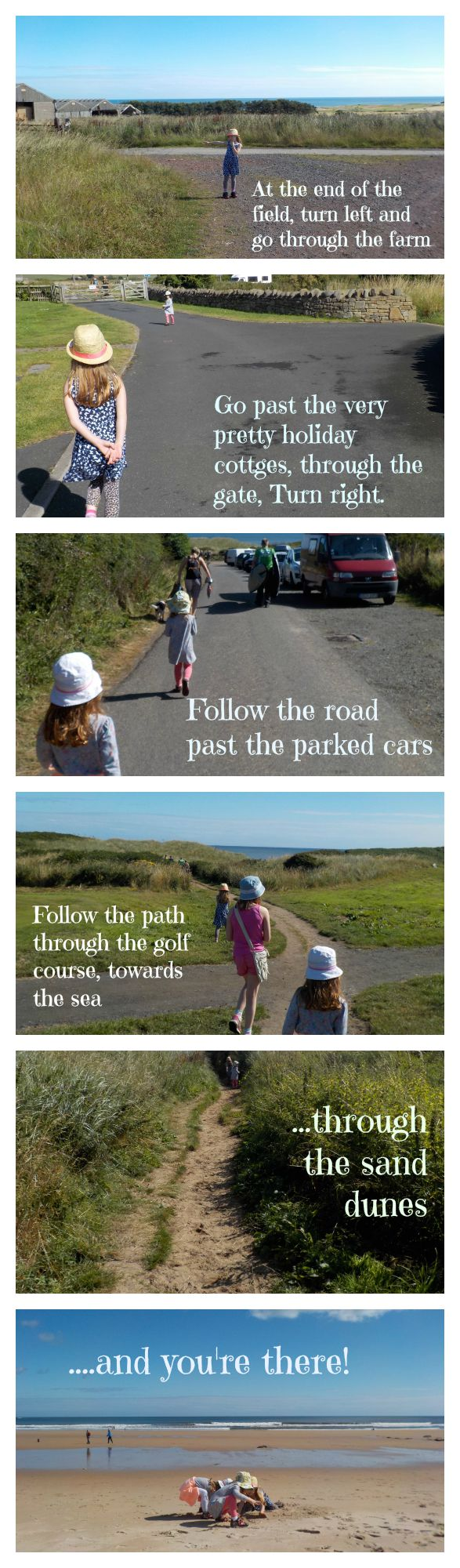 How to get to the beach from Dunstan Hill campsite