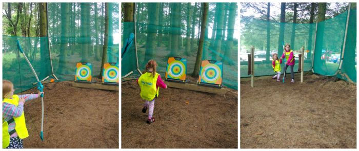 Mini archery at Keswick Climbing Wall