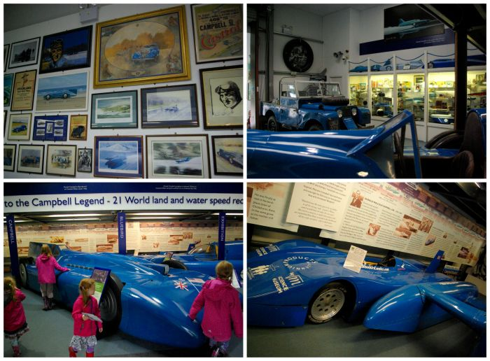 The Campbell Bluebird exhibition at Lakeland Motor Museum