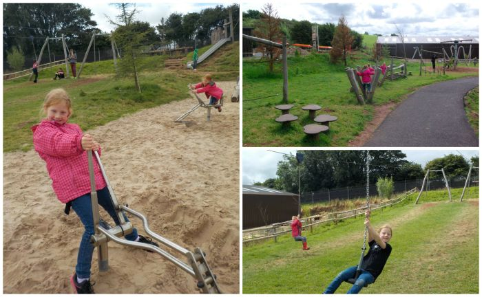 The playground at South Lakes Safari Zoo