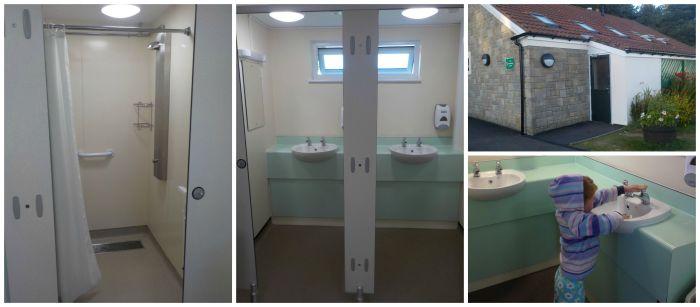 The toilet blocks at Dunstan Hill campsite