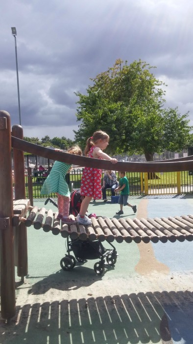 Adventure playground at Tamworth Castle