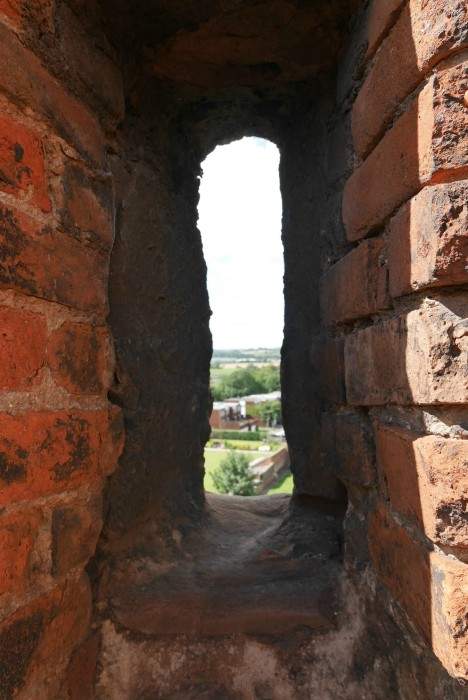 Through the windows at Tamworth Castle
