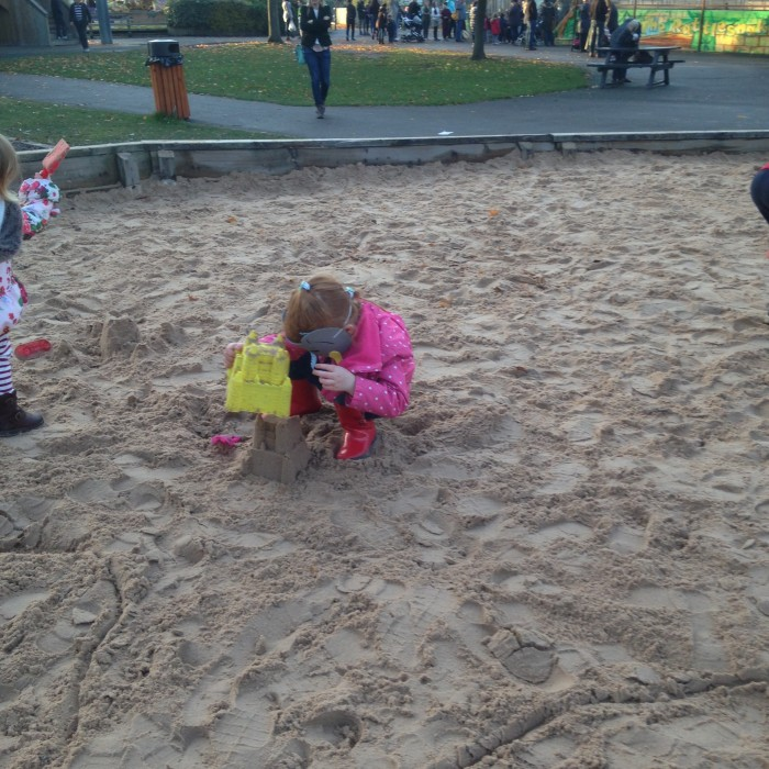 Sand play area at Knowsley Safari Park