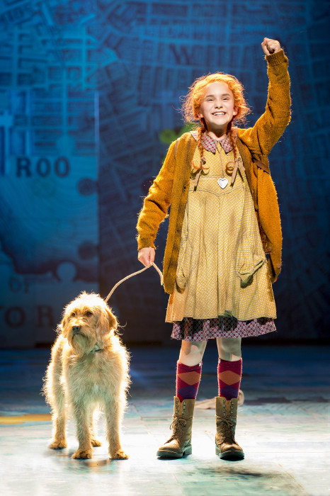 ANNIE - Sophia Pettit as 'Annie' and Sandy