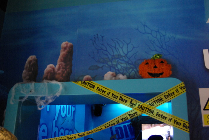 Halloween decor at Sea Life Manchester