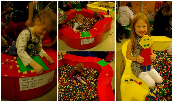 The Lego pits at Legoland Discovery Centre Manchester