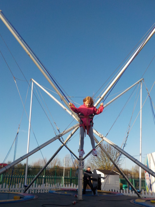 The bungee trampolines at Butlin's Skegness