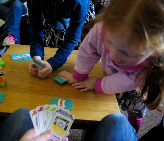 Children cheating at card games