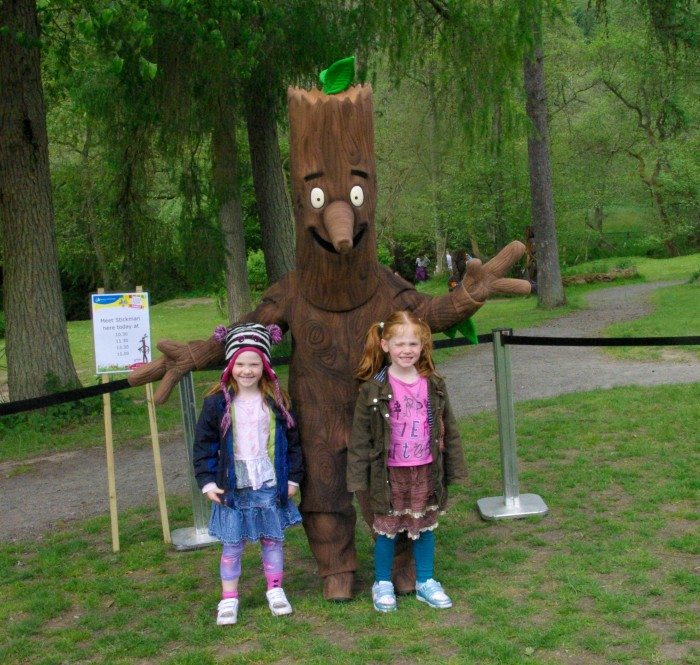 Meeting Stick Man at Dalby Forest