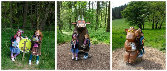 The gruffalo and the gruffalos child at Dalby Forest