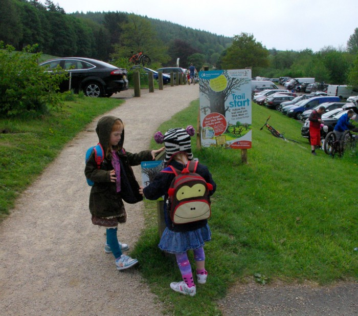 The start of the Stick Man trail at Dalby Forest