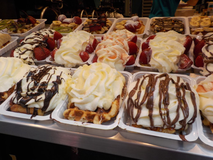 Belgain waffles in Brussels