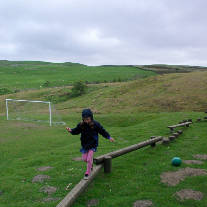 The play area at YHA Grinton Lodge