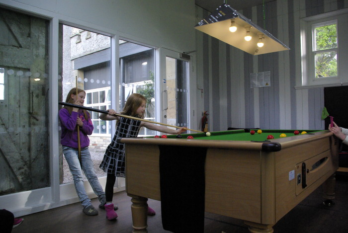 The games room at YHA Grinton Lodge