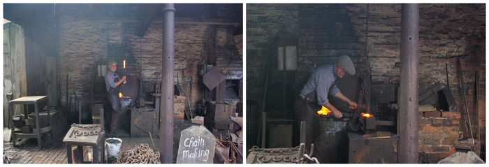 Chain making demonstration at Black Country Living Museum