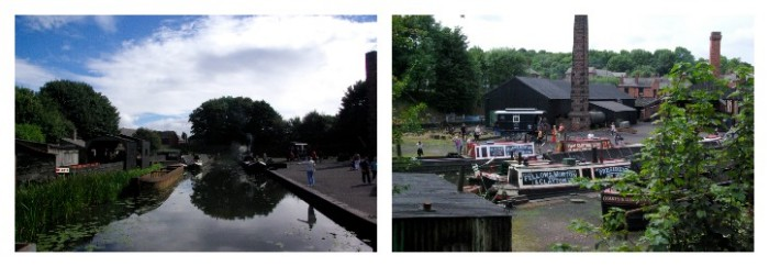 The canals and boats at Black Country Living Museum