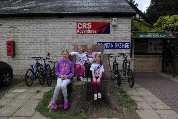 The cycle hire centre at River Dart Country Park