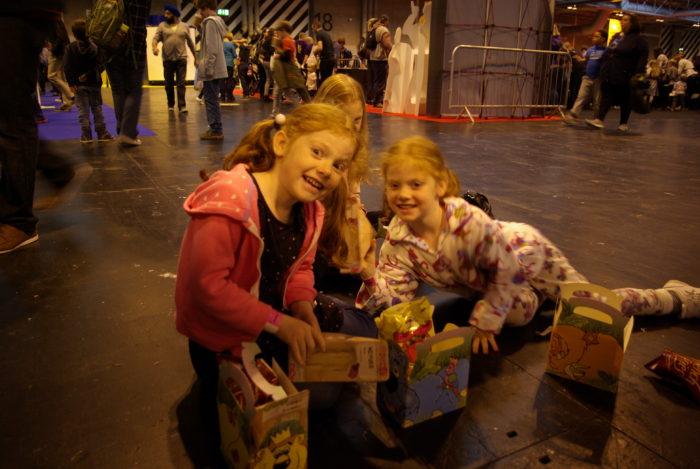 Floor picnic at Brick Live Birmingham