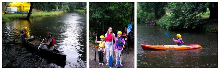 Kayaking and canoeing at River Dart Country Park in Devon