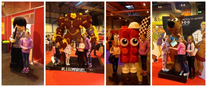 Meeting the Lego characters at Brick Live