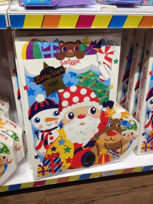 The Smiggle advent calendar 2016
