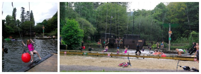 Pirate lake at River Dart Country Park in Devon