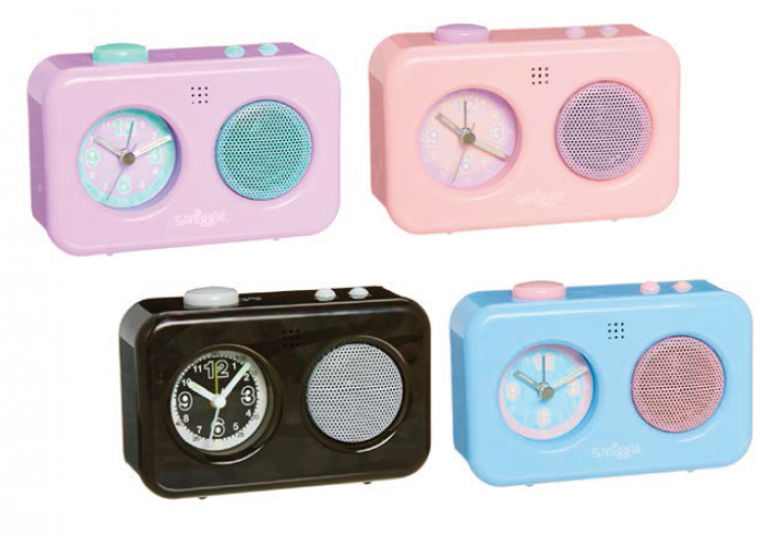 Talking alarm clocks from Smiggle