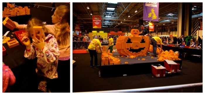 The Pumpkin Patch build at Brick Live